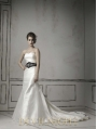 Black and White Long Sleeves Gothic Wedding Dress