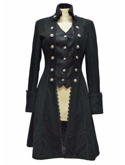 Black Gothic Long Coat for Women