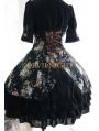 Floral Pattern Short Sleeves Lolita Dress