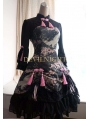 Floral Pattern Long Sleeves Lolita Dress