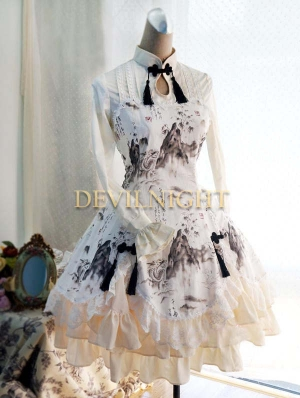 Chinese Style Pattern Elegant Lolita Dress