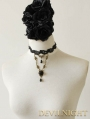 Black Lace Flower Vintage Romantic Gothic Necklace