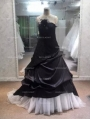 Black Romantic Gothic Wedding Dress