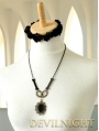 Black Pendant Chian Gothic Necklace Jewelry