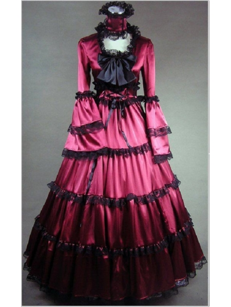 Red Masquerade Gothic Ball Gowns - Devilnight.co.uk