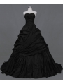 Black Ball Gown Gothic Wedding Dress