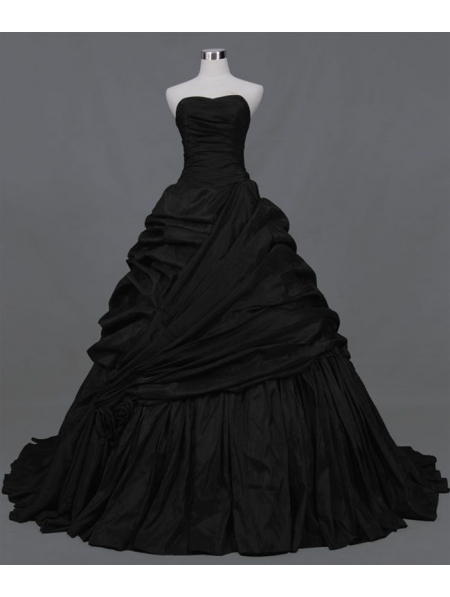 2d70e686a0 Black Ball Gown Gothic Wedding Dress - Devilnight.co.uk