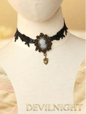 Black Vintage Gothic Victorian Necklace