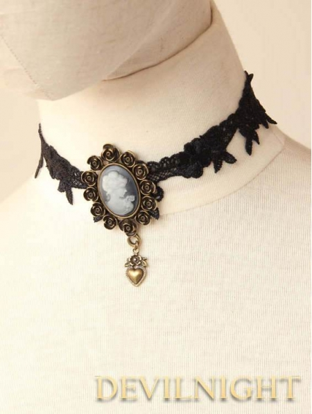 uk devilnight gothic vintage black necklace co victorian