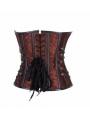 Brown Pattern Overbust Fashion Steampunk Corset