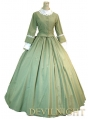 Green Classic Elegant Victorian Day Costume Dress