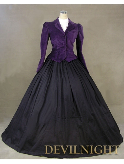 Purple Jacket Winter Gothic Victorian Costume Dress