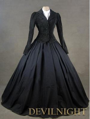 Black Jacket Winter Gothic Victorian Costume Dress