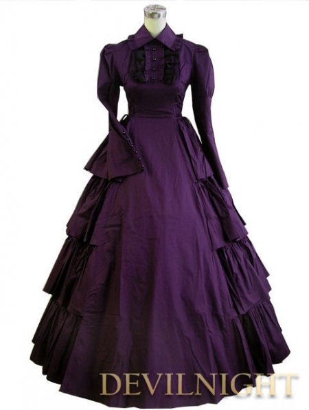 Purple Classic Gothic Victorian Dress Devilnight Co Uk
