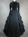 Black Classic Gothic Victorian Dress
