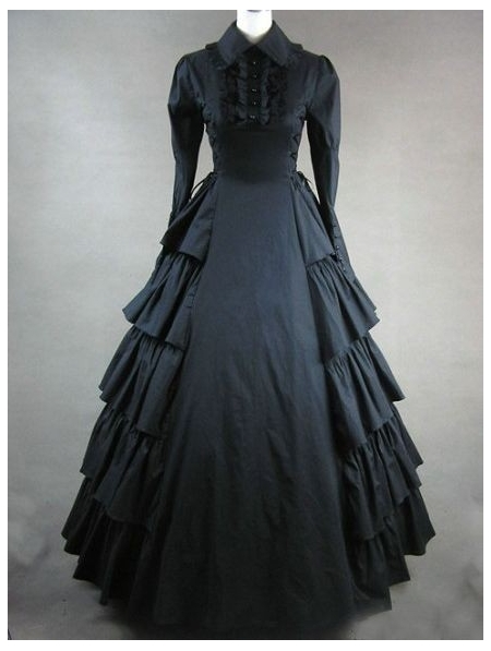 Black Classic Gothic Victorian Dress Devilnight Co Uk