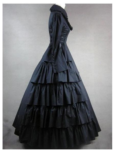 black classic gothic victorian dress devilnightcouk