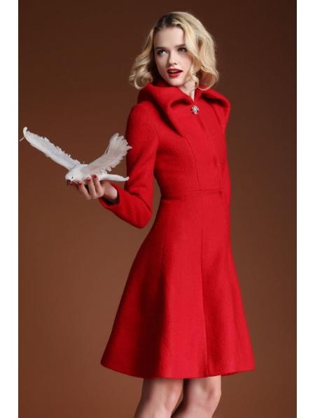 Red Wool Coat Uk Coat Nj