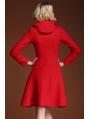 Red Elegant Vintage Wool Coat
