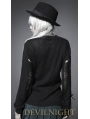 Black Long Sleeves Alternative Gothic Sweater for Women