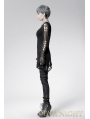 Black Long Sleeves Breezy Outfit Gothic Sweater for Women