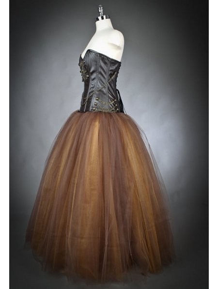 Steampunk prom dress