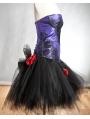 Purple and Black Gothic Burlesque Corset Short Party Dress