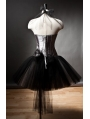 Halter Gothic Burlesque Corset Short Prom Party Dress