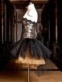 Champagne Lace Gothic Burlesque Short Corset Prom Party Dress