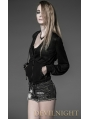 Black Long Sleeves Gothic Hooded Jacket for Women