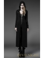 Black Long Sleeves Gothic Hooded Long Outfits for Women