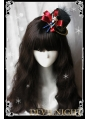 Black Ribbon Bow Feather Hat Christmas Headdress