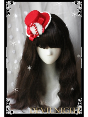 Red Bow Hat Christmas Headdress