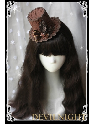Christmas Brown Vintage Lolita Hat Headdress