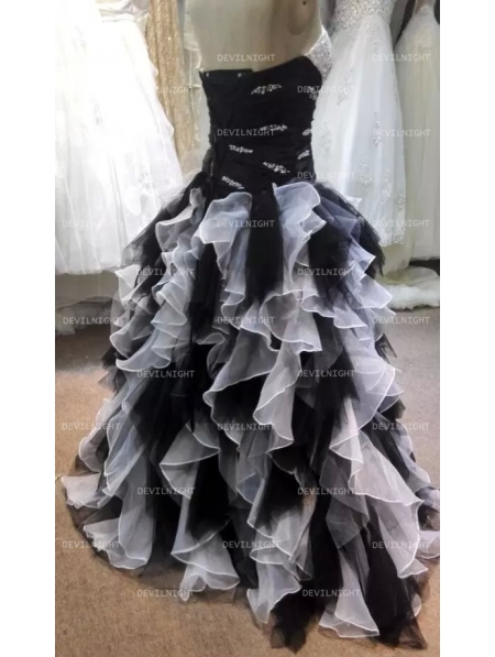 Black and White Ball Gowns