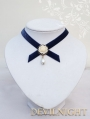 Blue Velvet Flower Elegant Vintage Victorian Necklace