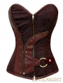 Brown Steampunk Overbust Corset