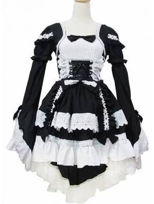 White and Black Sweet Maid Lolita Dress