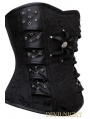 Black Fashion Gothic Steampunk Overbust Corset