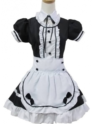 Black and White Sweet Maid Lolita Dress