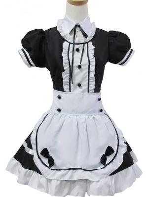 Black and White Sweet Maid Lolita Dress
