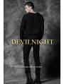 Black Alternative Pattern Long Sleeves Gothic T-Shirt for Men