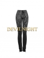 Black Gothic Mystery Tree Printing Stretch Legging for Women