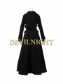 Black Long Sleeves Vintage Gothic Long Coat for Women