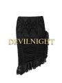 Black Pattern Asymmetrical Mermaid Gothic Skirt