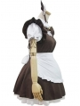 Brown and White French Maid Lolita Dress