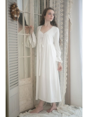 Simple Long Sleeves Medieval Chemise Robe