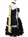 Black and White Strapless Maid Lolita Dress