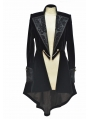 Black Long Sleeves Gothic Swallow Tail Outfit for Women