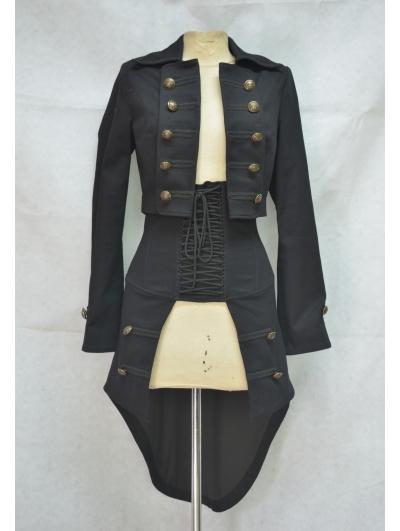 Alternative Black Gothic Two-Piece for Women